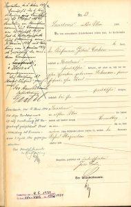 Geburtsurkunde Richard Maximilian Cahén